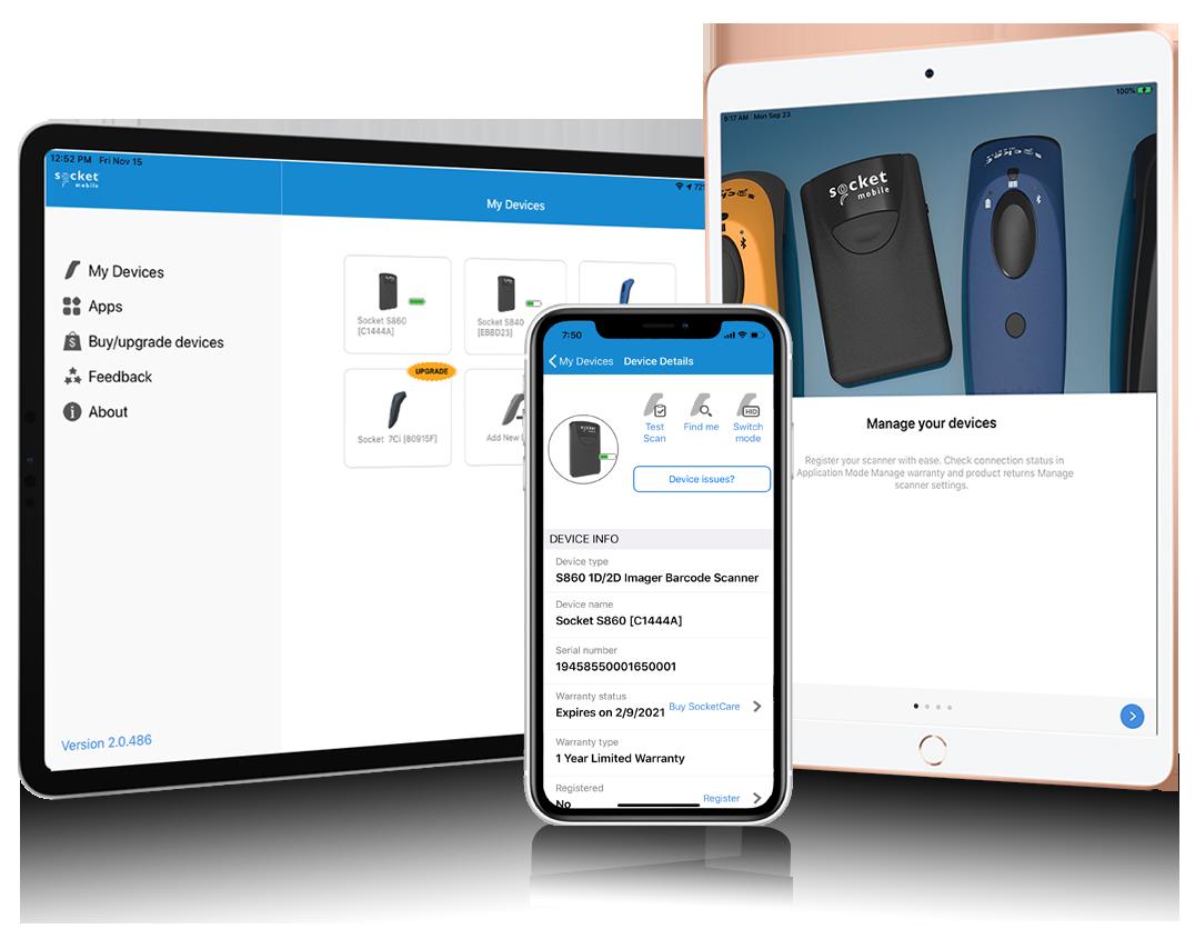 Barcode scanner app | Companion app | setup scanner | Socket